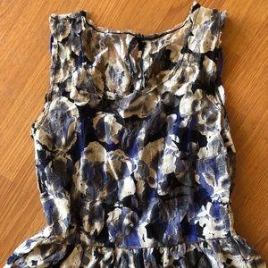 Pins & Needless Blue, Black & Cream Minidress